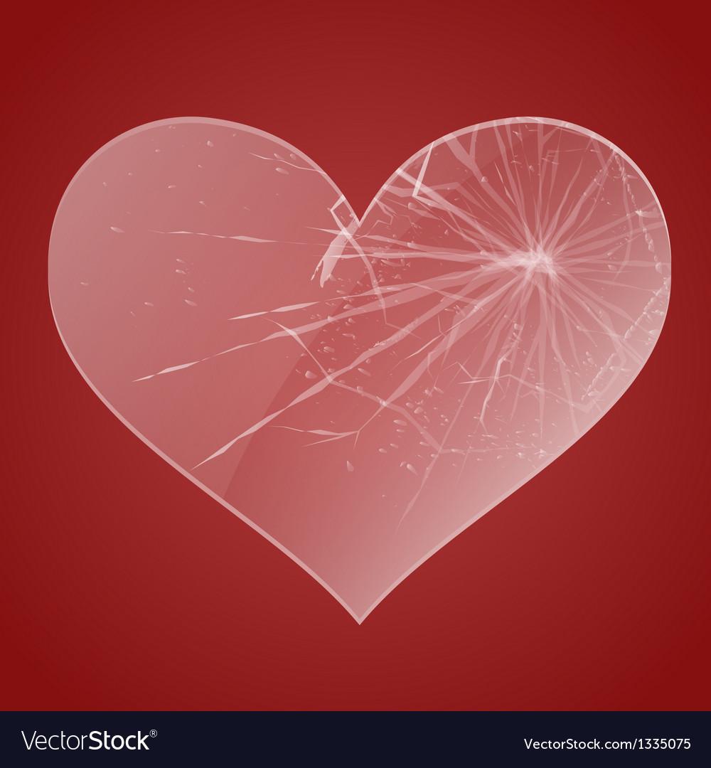 Glass broken heart vector | Price: 1 Credit (USD $1)