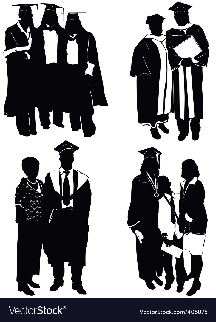 Graduate with family vector | Price: 1 Credit (USD $1)
