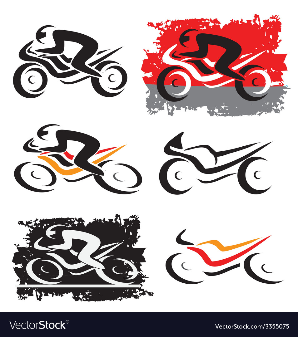 Motorbike motorcycle icons vector | Price: 1 Credit (USD $1)