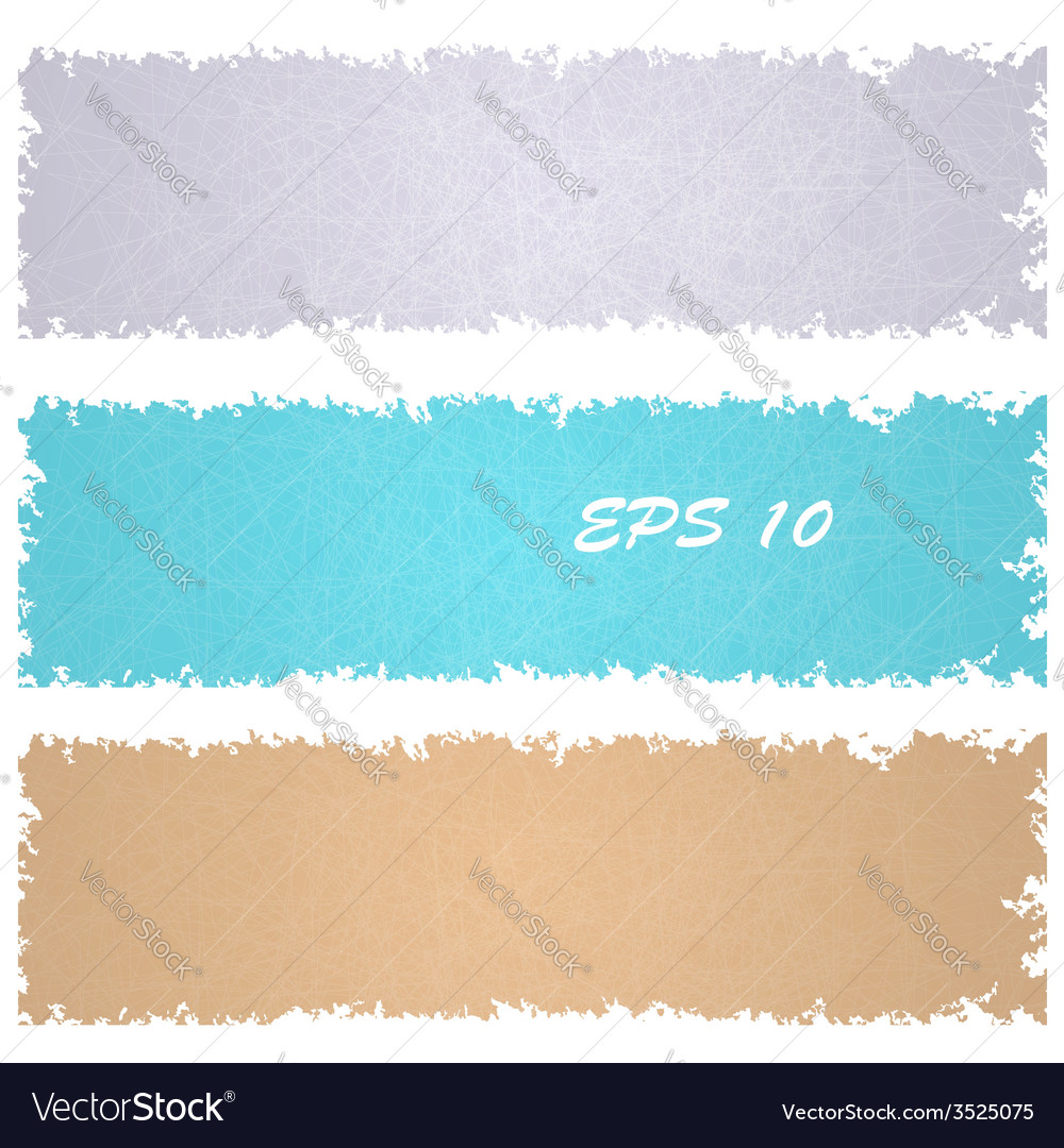 Set of grungy banners vector | Price: 1 Credit (USD $1)