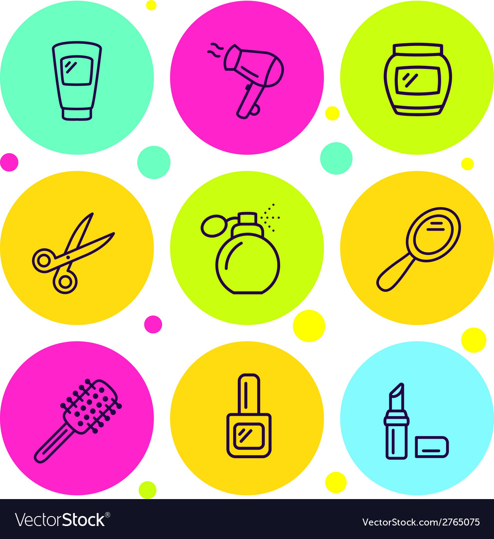 Set of icons beauty vector | Price: 1 Credit (USD $1)
