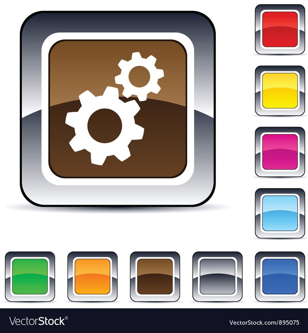 Tools square button vector | Price: 1 Credit (USD $1)