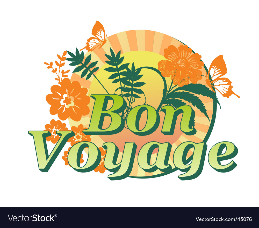Bon voyage vector | Price: 1 Credit (USD $1)