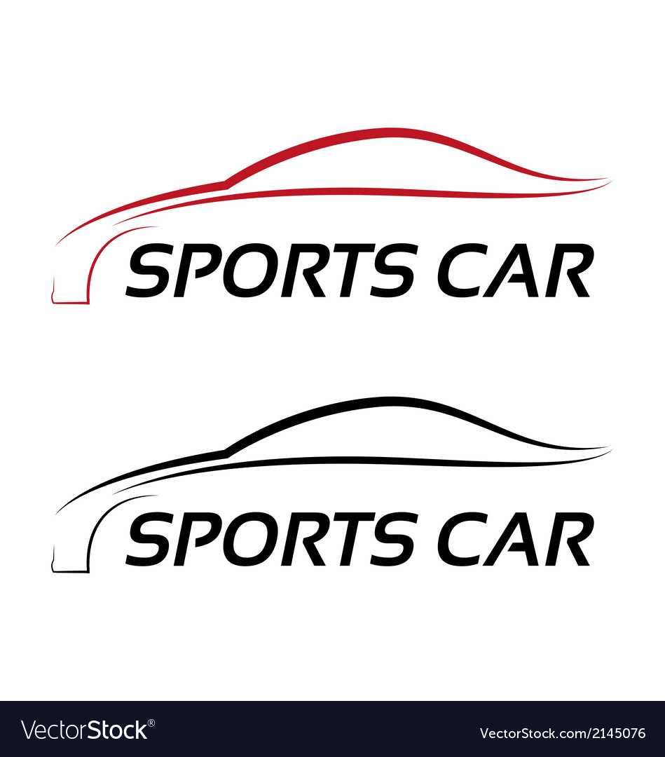 Calligraphic sport car logo template vector | Price: 1 Credit (USD $1)