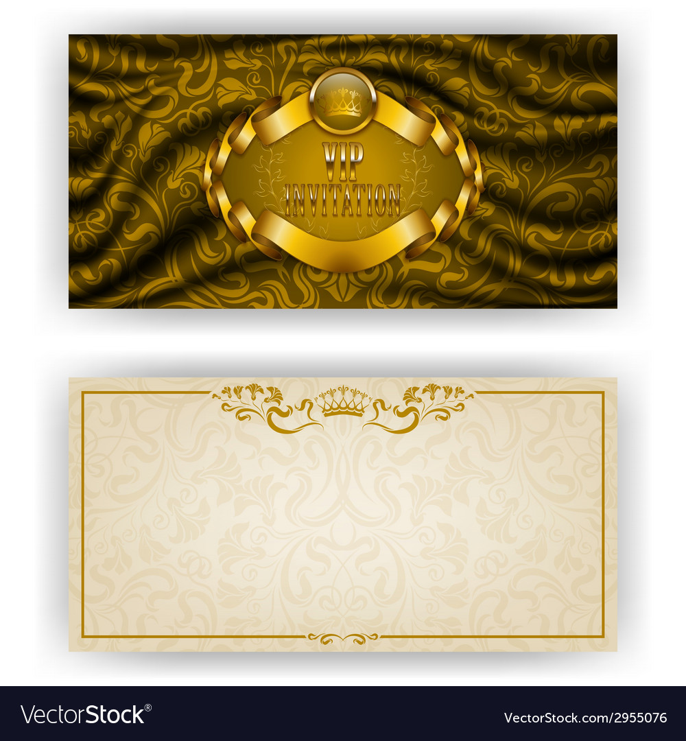 Elegant template for vip luxury invitation vector | Price: 1 Credit (USD $1)