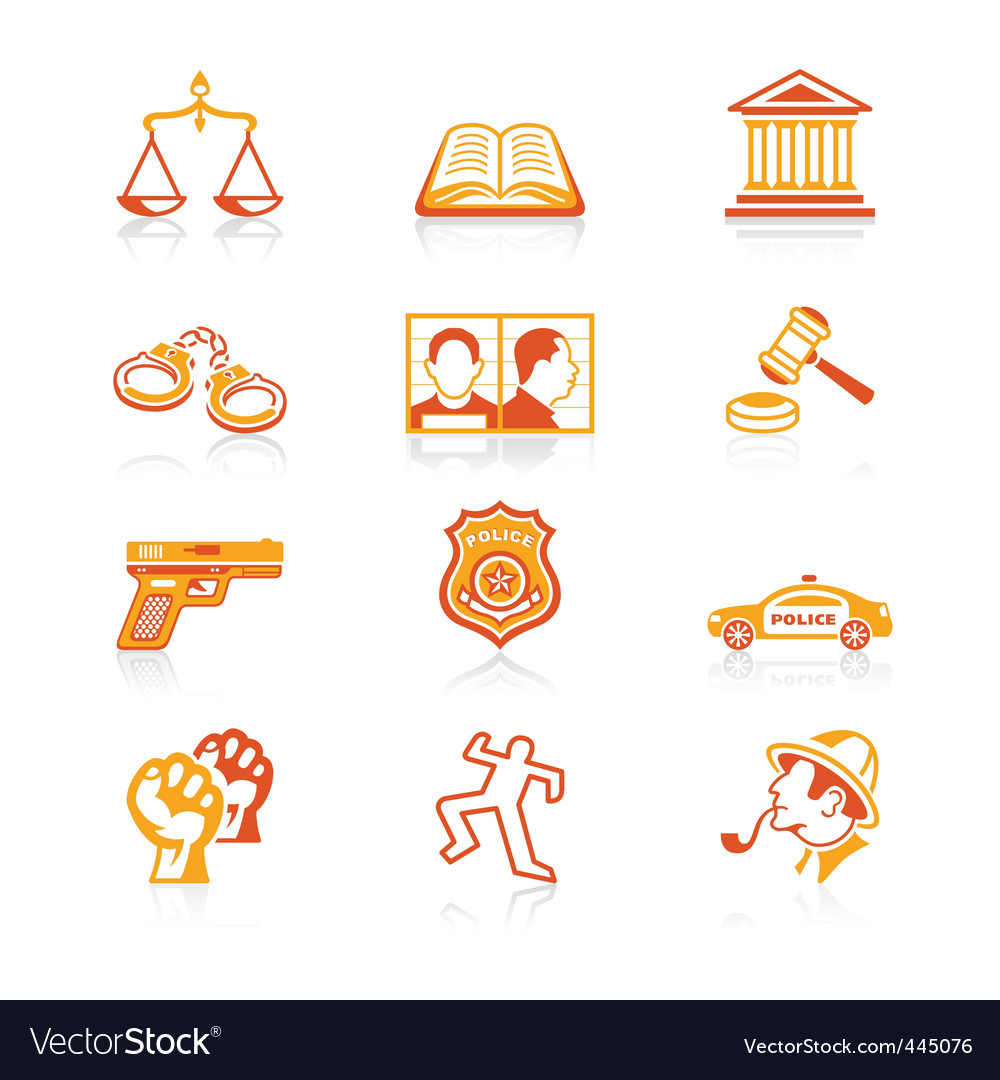 Law and order icons vector | Price: 1 Credit (USD $1)