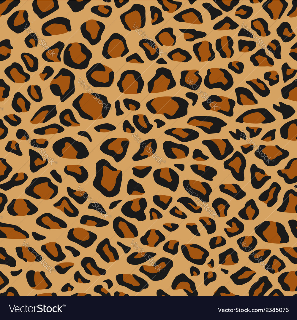 Leopard fur or skin seamless pattern vector | Price: 1 Credit (USD $1)