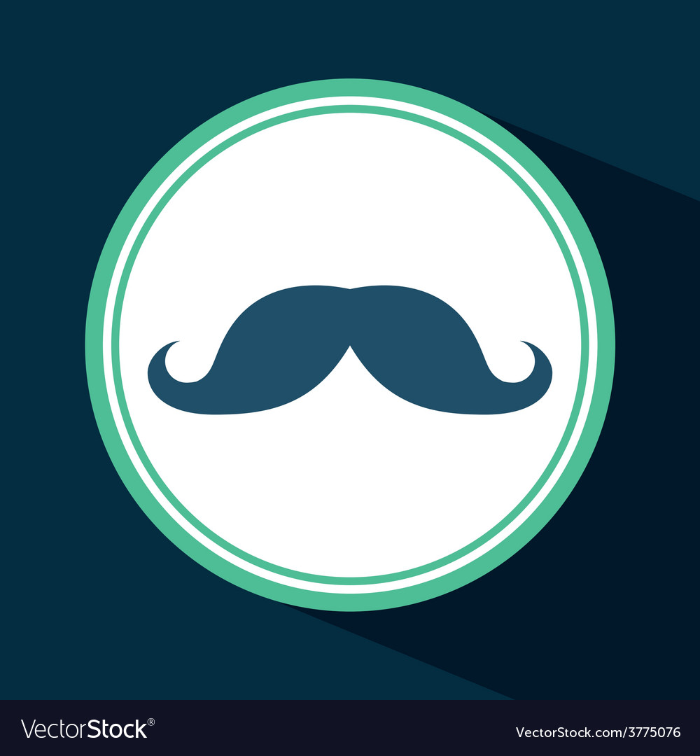 Mustache icon vector | Price: 1 Credit (USD $1)