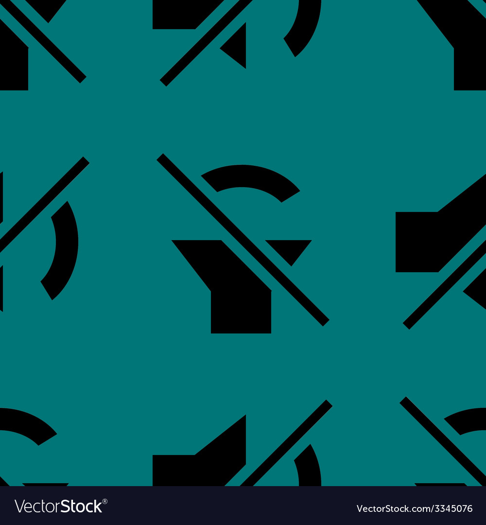 Mute sound web icon flat design seamless pattern vector | Price: 1 Credit (USD $1)