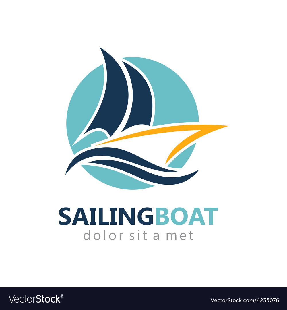 Sailing boat abstract logo vector   Price: 1 Credit (USD $1)