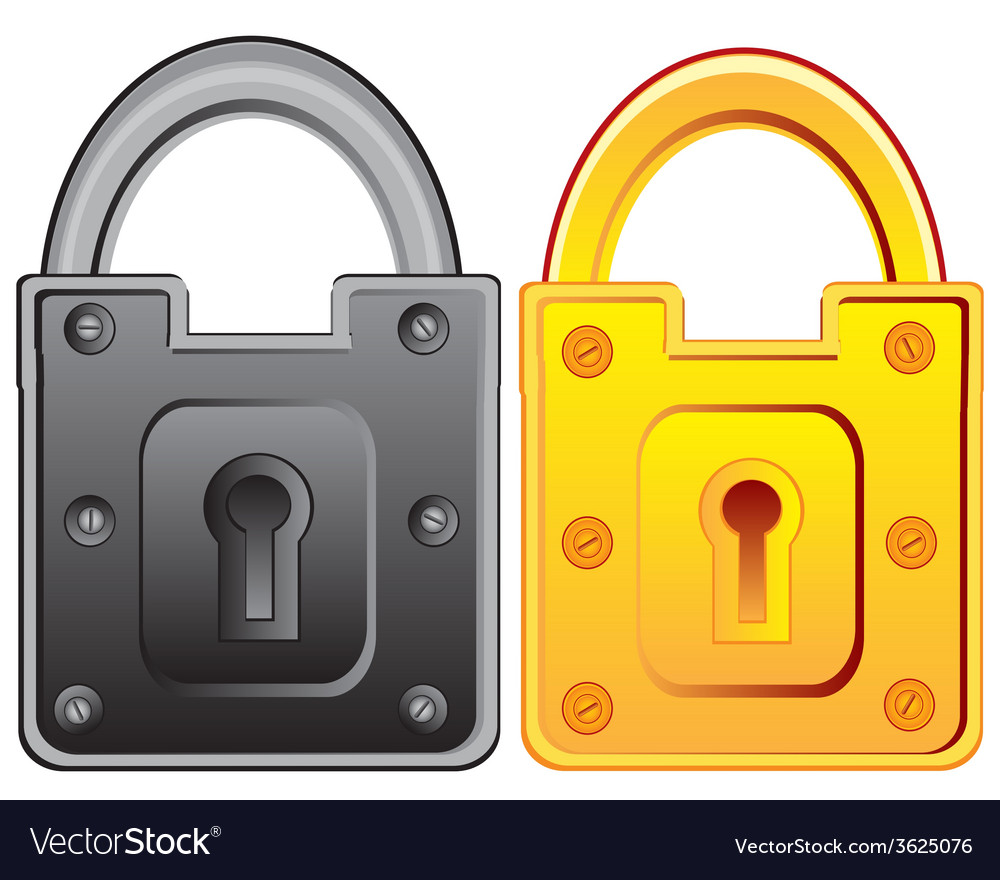 Two locks from door vector | Price: 1 Credit (USD $1)