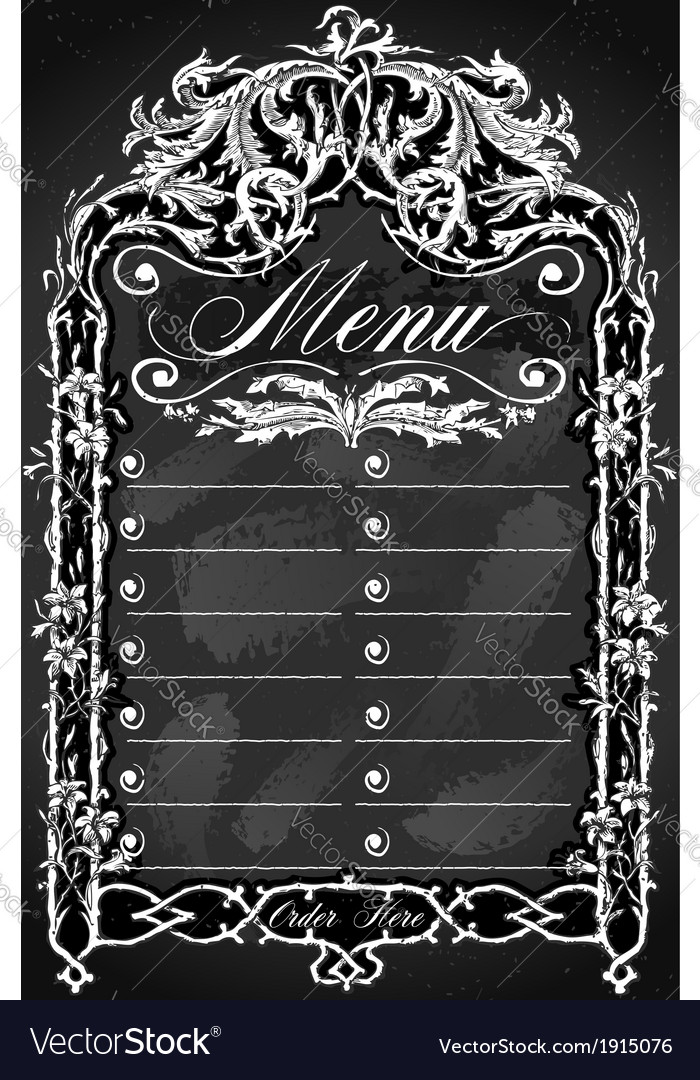 Vintage blackboard for bar or restaurant menu vector | Price: 1 Credit (USD $1)
