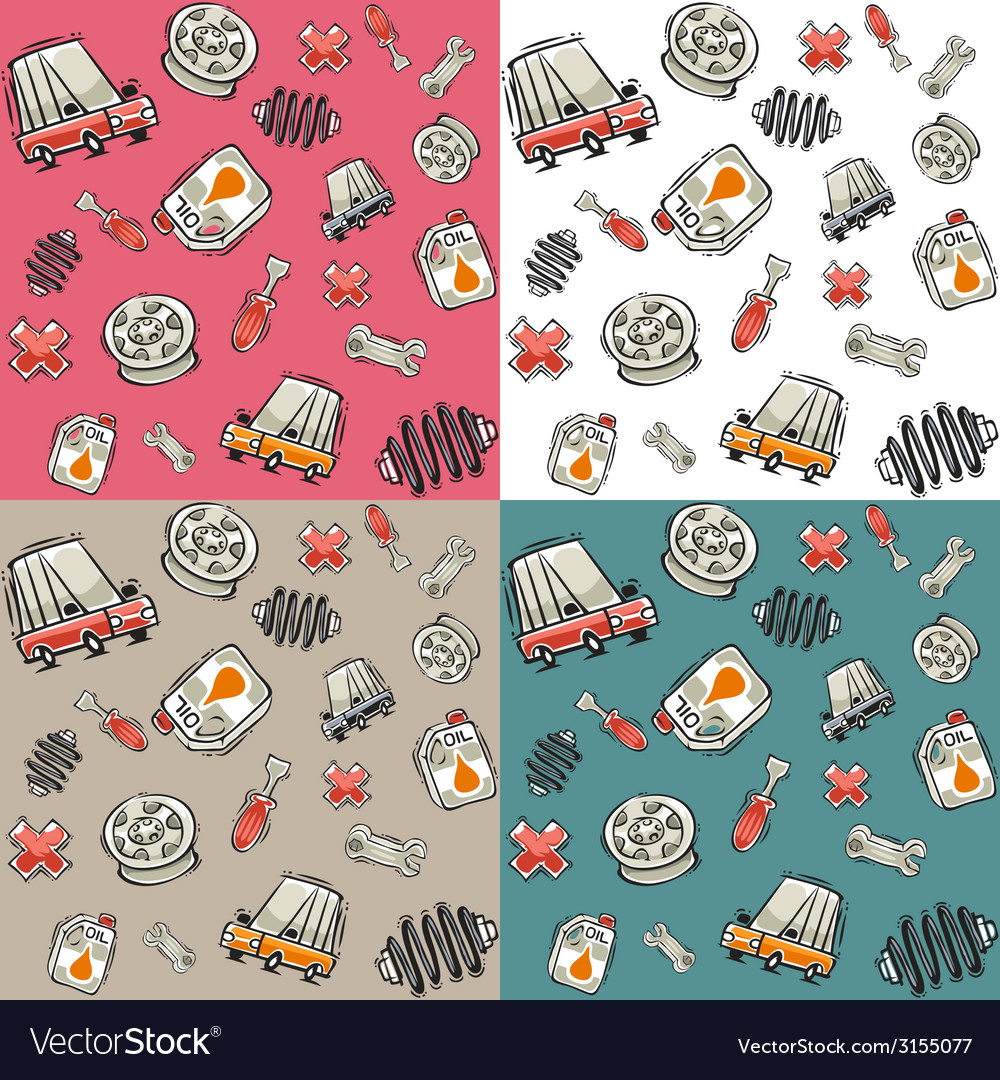 Automotive topics seamless background vector | Price: 1 Credit (USD $1)