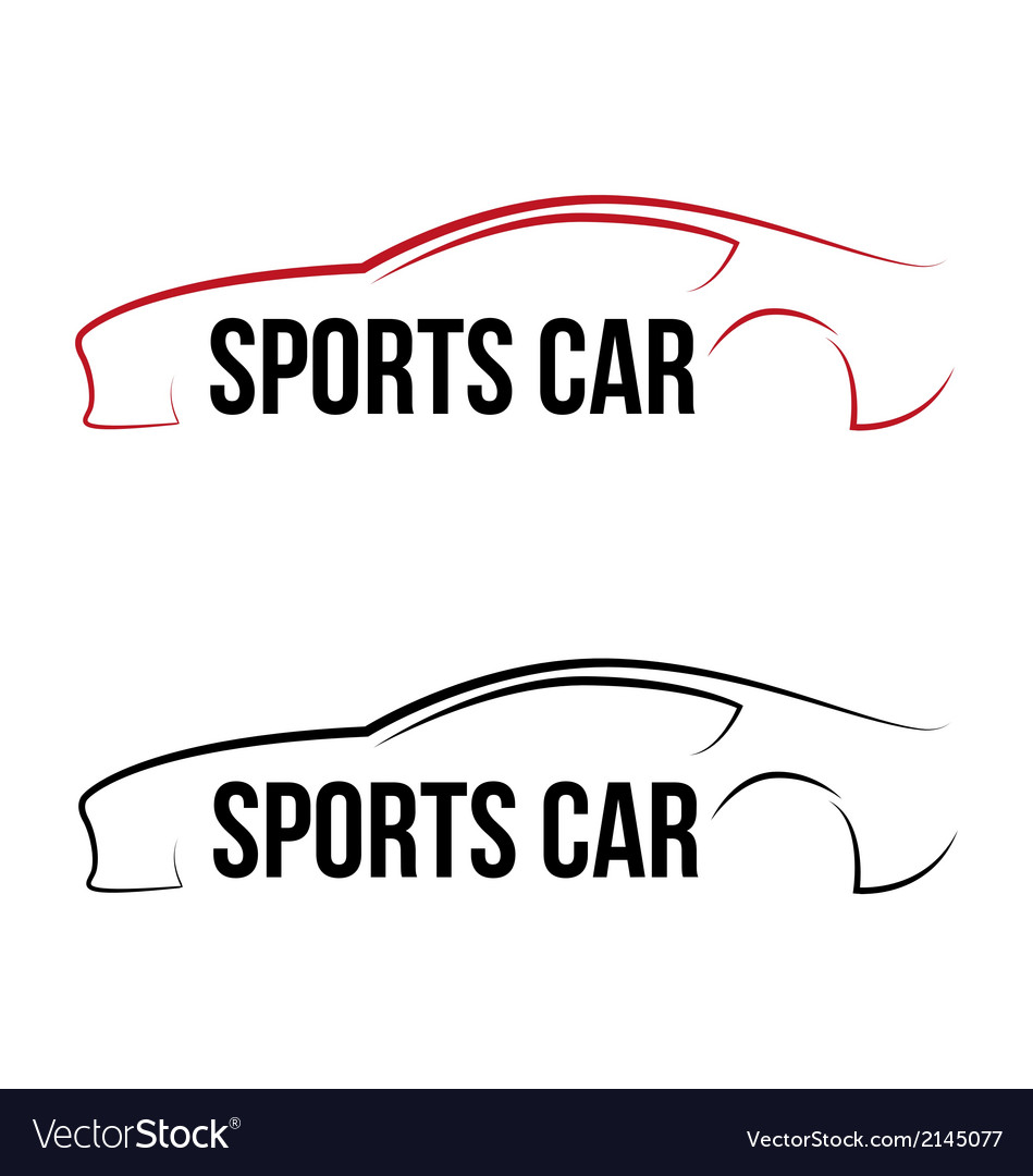 Calligraphic sport car logo vector | Price: 1 Credit (USD $1)
