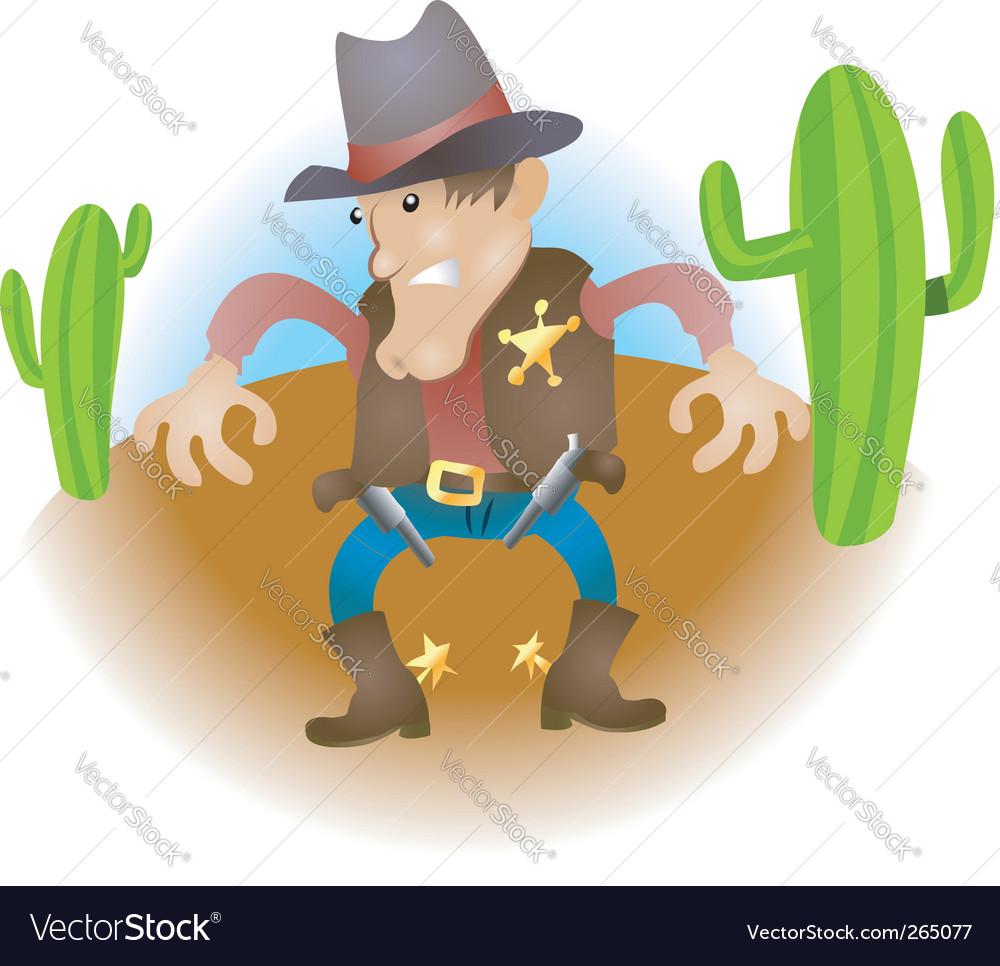 Cartoon cowboy vector | Price: 3 Credit (USD $3)