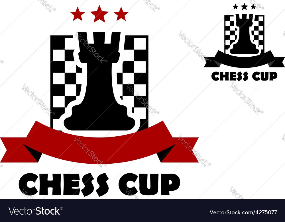 Chess cup logo or emblem template vector | Price: 1 Credit (USD $1)