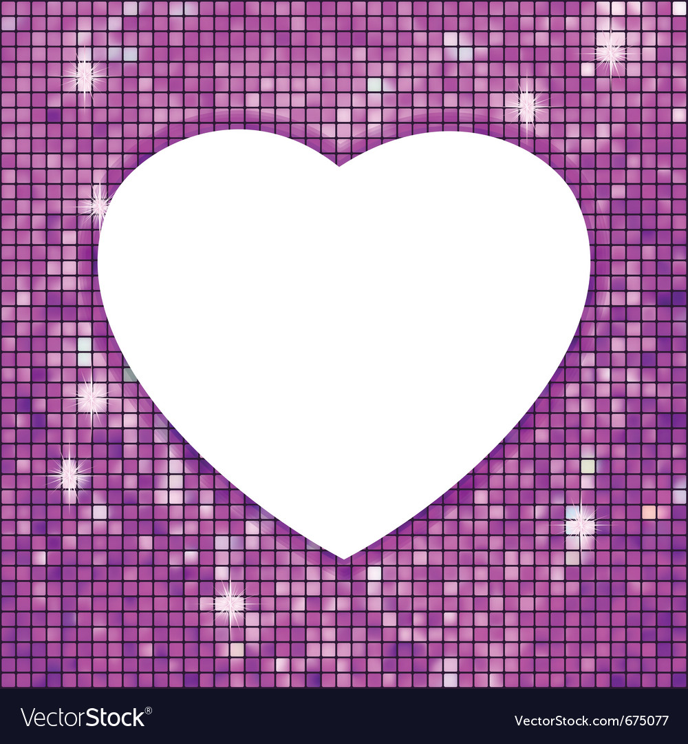 Disco heart vector | Price: 1 Credit (USD $1)