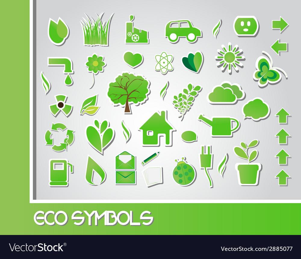 Eco symbols vector   Price: 1 Credit (USD $1)