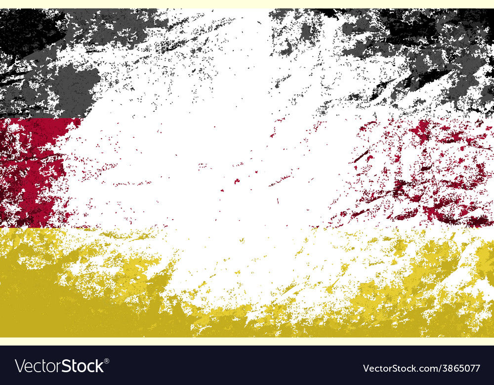 Germany flag grunge background vector | Price: 1 Credit (USD $1)