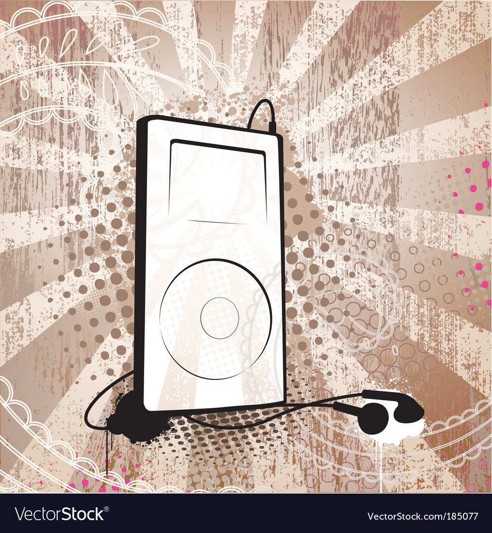Grunge mp3 vector | Price: 1 Credit (USD $1)
