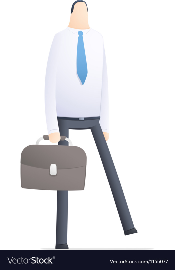 Manager go to work vector | Price: 1 Credit (USD $1)
