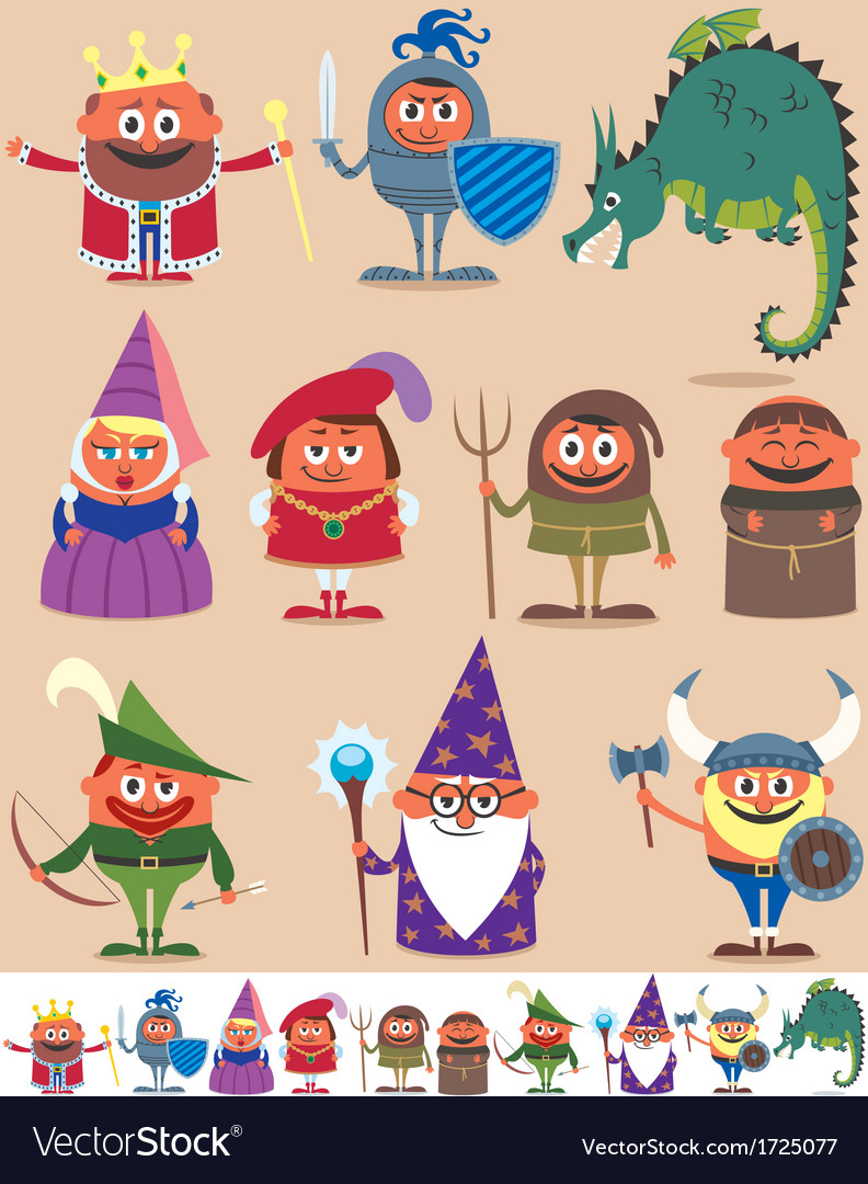 Medieval people vector | Price: 3 Credit (USD $3)