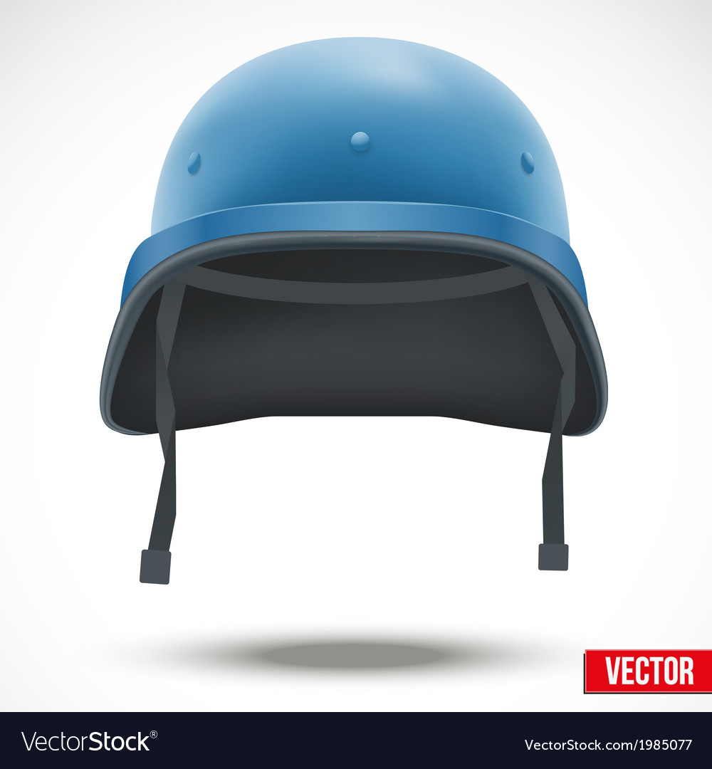 Military helmet of united nations vector | Price: 1 Credit (USD $1)