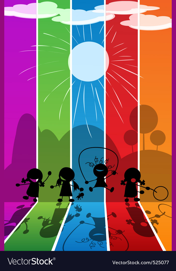 Playing kids vector | Price: 1 Credit (USD $1)