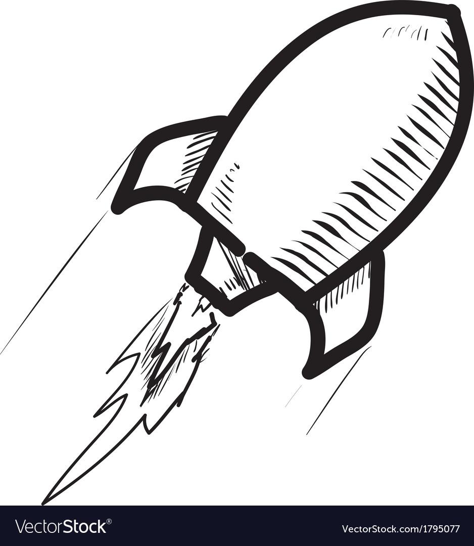 Rocket ship cartoon icon vector | Price: 1 Credit (USD $1)