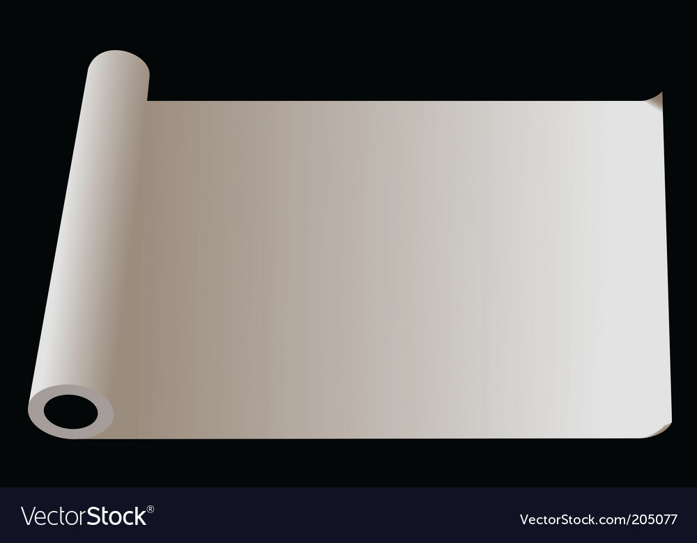 Roll of paper vector | Price: 1 Credit (USD $1)