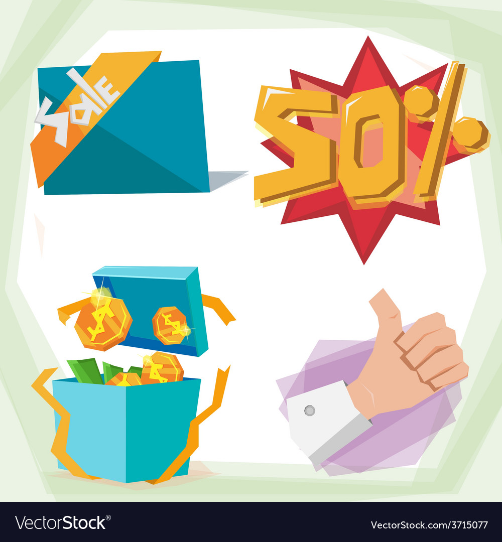 Sale object vector | Price: 1 Credit (USD $1)