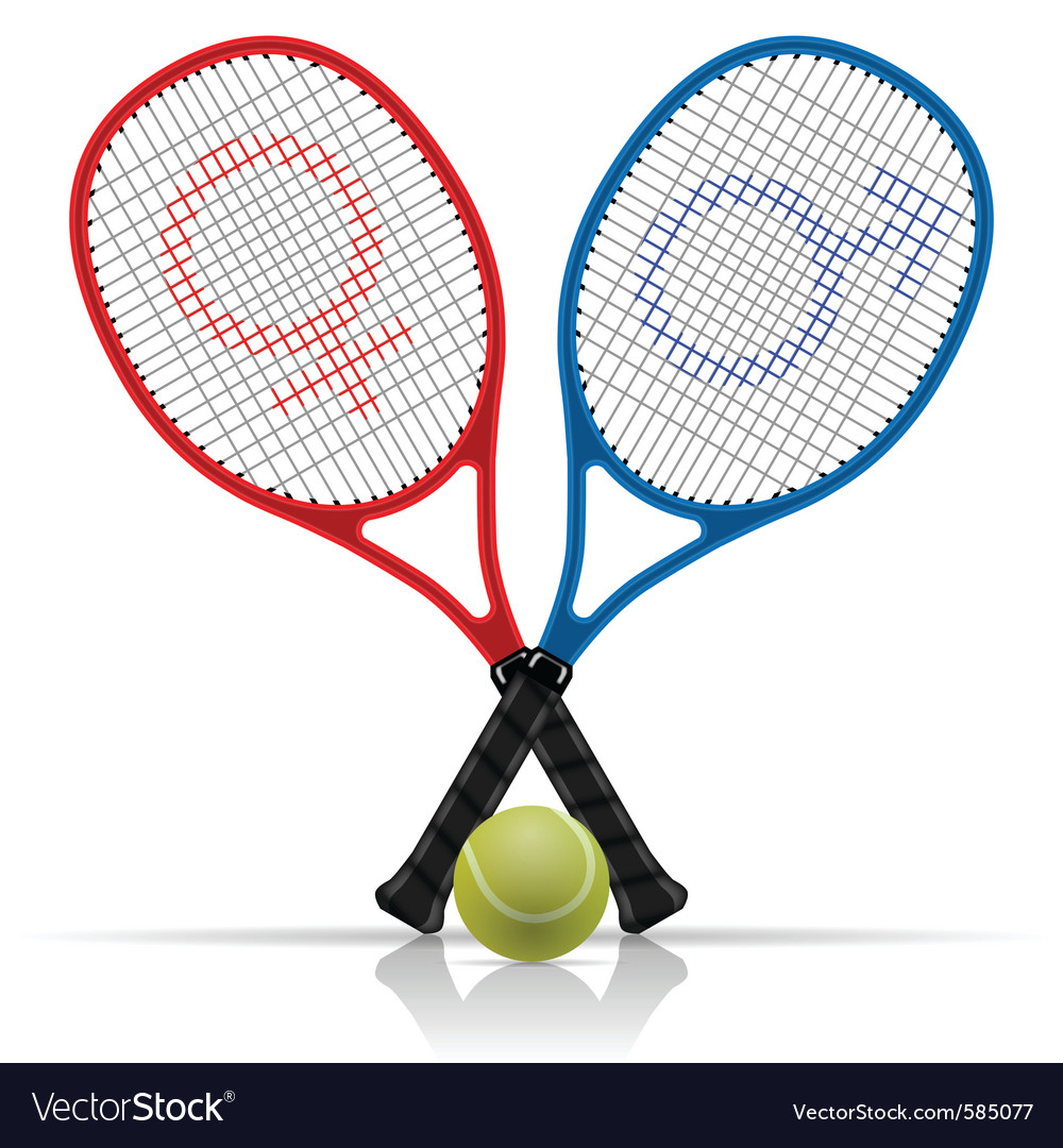Tennis rackets vector | Price: 3 Credit (USD $3)