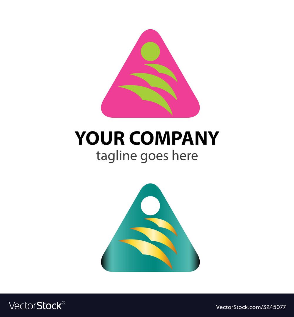 Triangle logo icon with bird idea vector | Price: 1 Credit (USD $1)