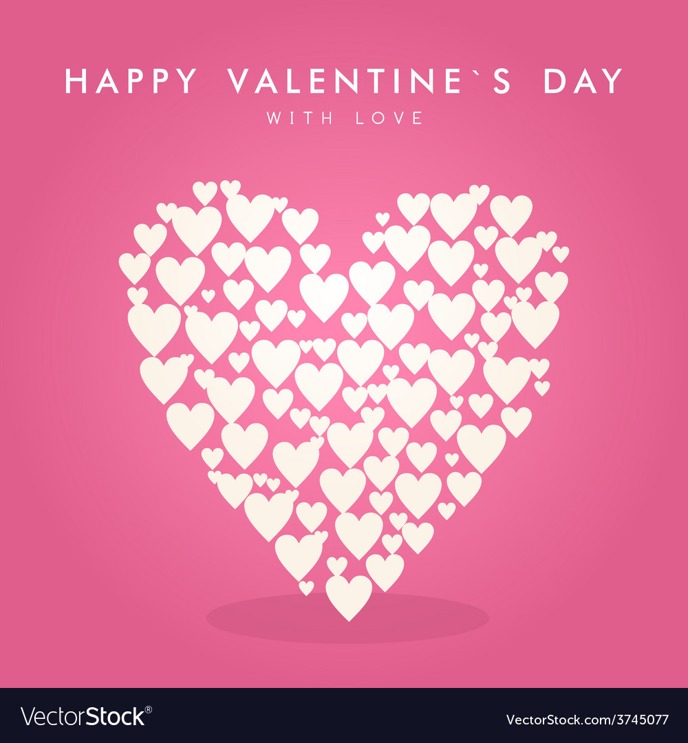 Valentines day abstract background with hearts vector | Price: 1 Credit (USD $1)