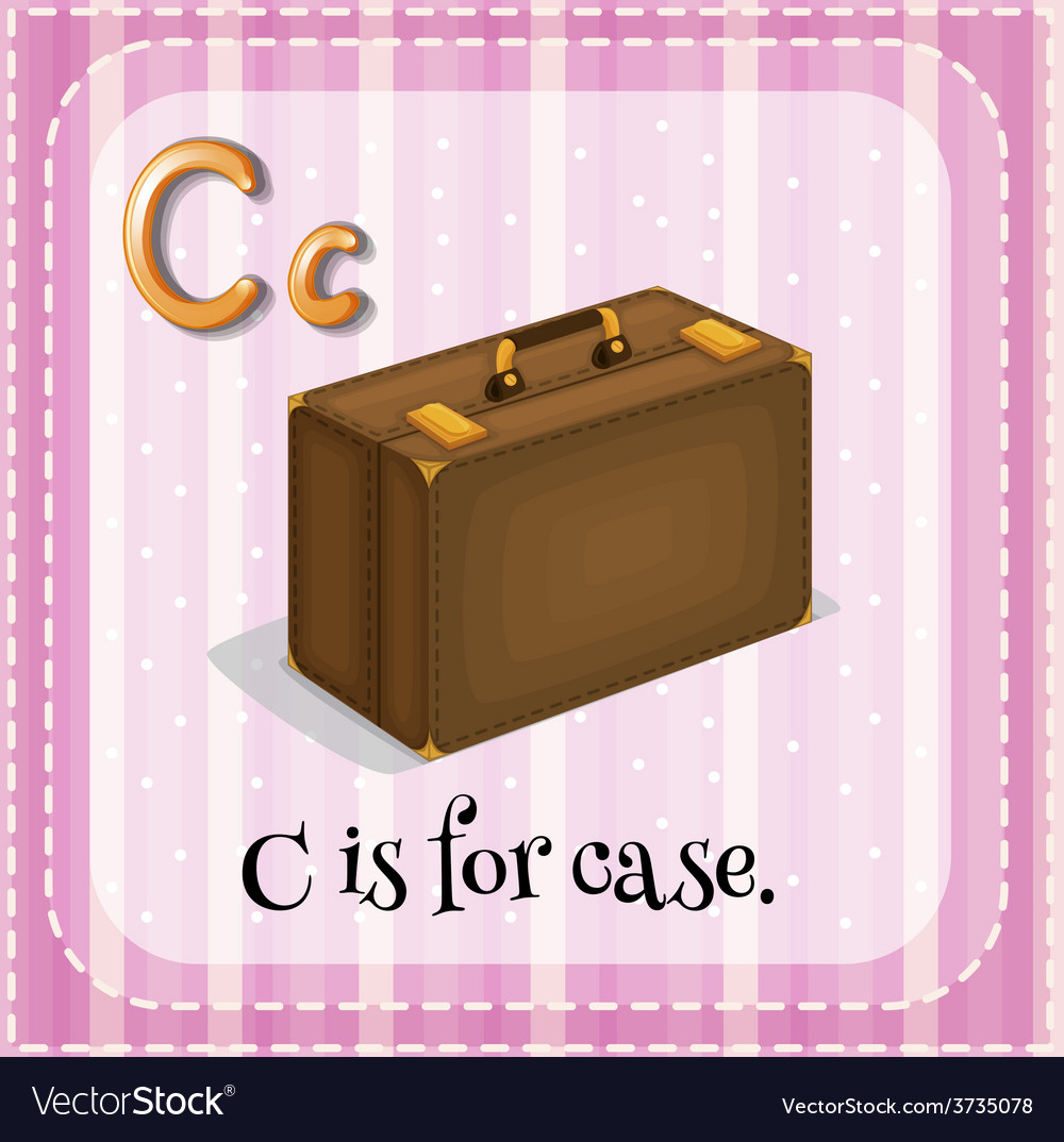 A letter c for case vector | Price: 1 Credit (USD $1)