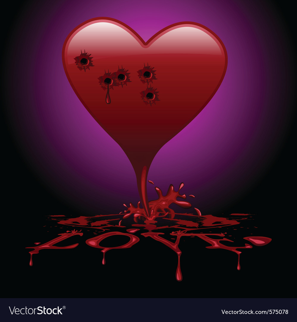 Bleeding heart vector | Price: 1 Credit (USD $1)