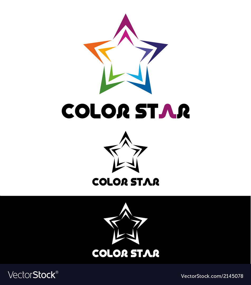 Color star logo template vector | Price: 1 Credit (USD $1)