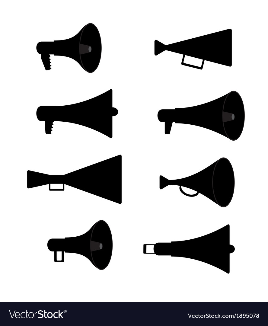 Horn silhouette set vector | Price: 1 Credit (USD $1)