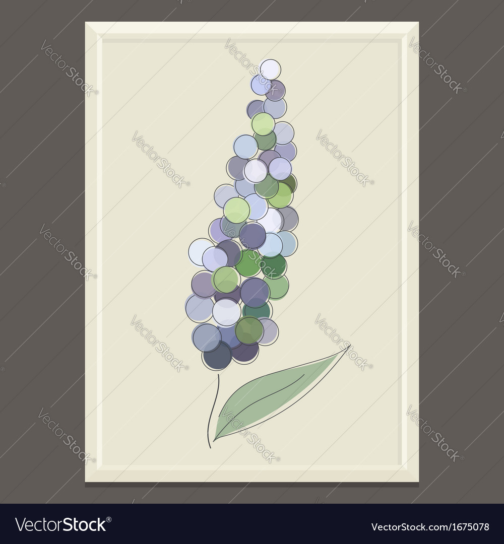 Purple spring flower vector | Price: 1 Credit (USD $1)