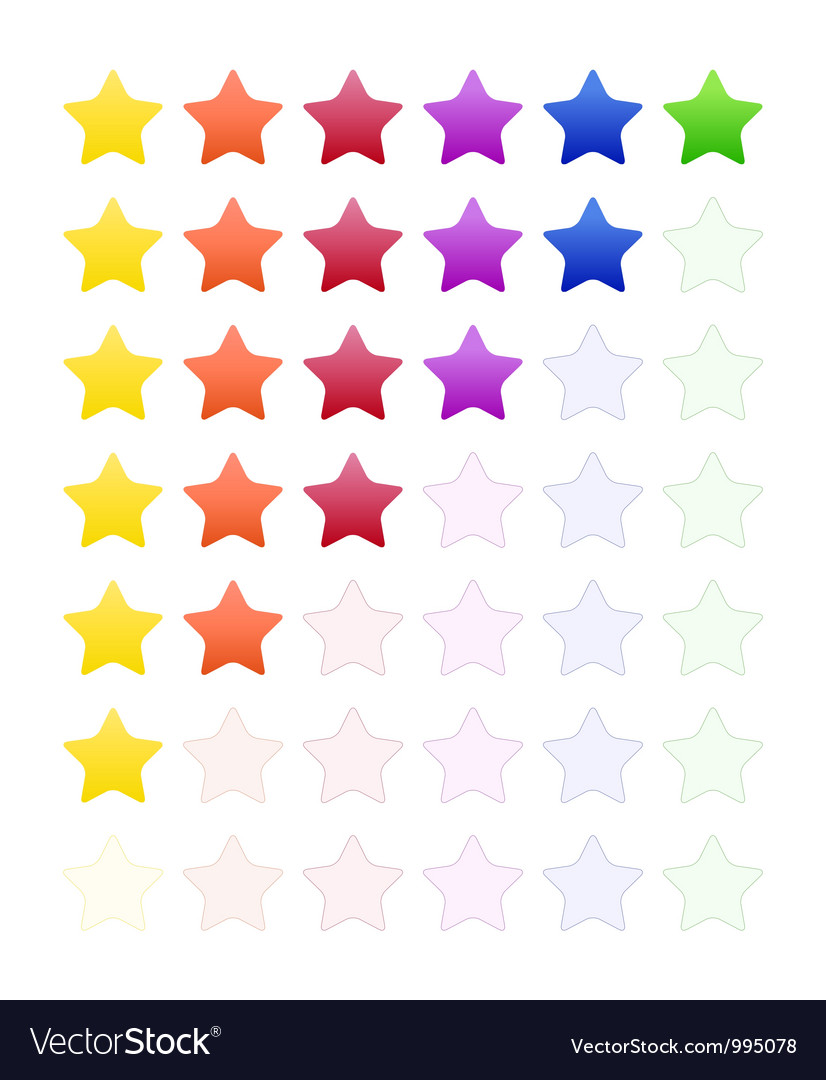 Rate stars vector | Price: 1 Credit (USD $1)