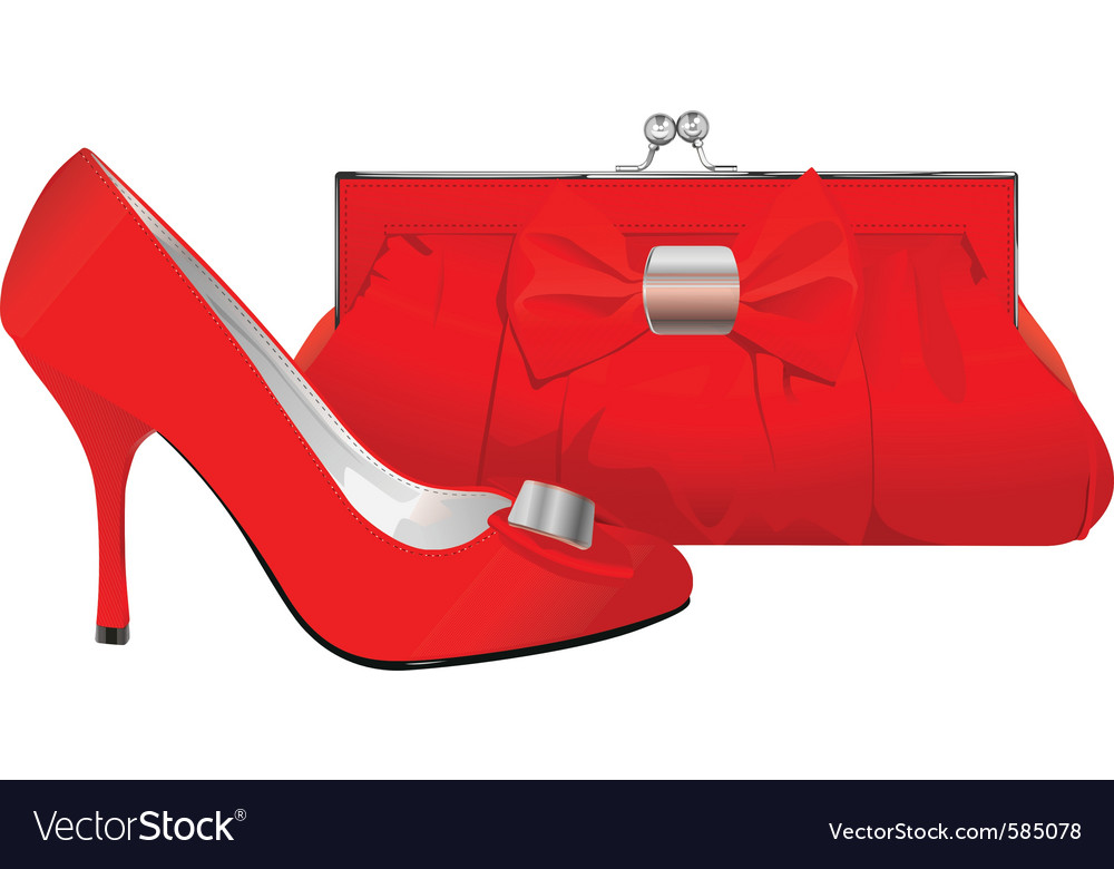 Shoe and purse vector | Price: 3 Credit (USD $3)