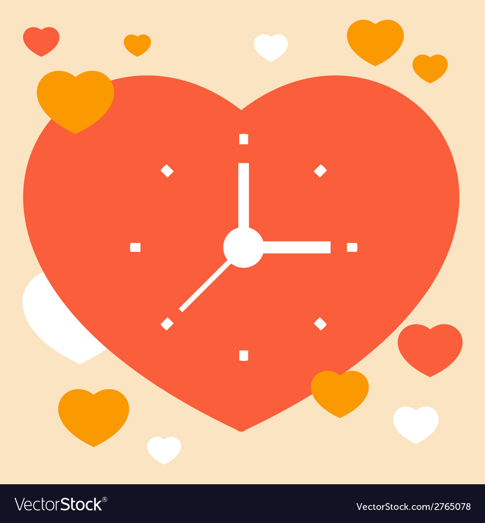Time to love vector | Price: 1 Credit (USD $1)