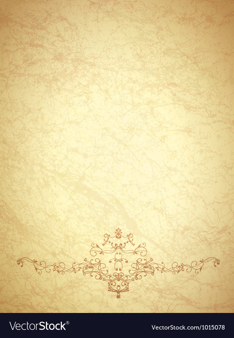Vintage paper with monogram vector | Price: 1 Credit (USD $1)