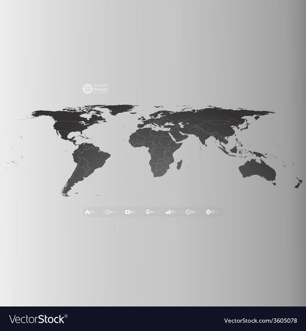 World map in perspective infographic template for vector | Price: 1 Credit (USD $1)