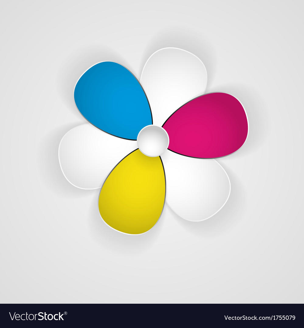 Abstract 3d flower of paper vector | Price: 1 Credit (USD $1)