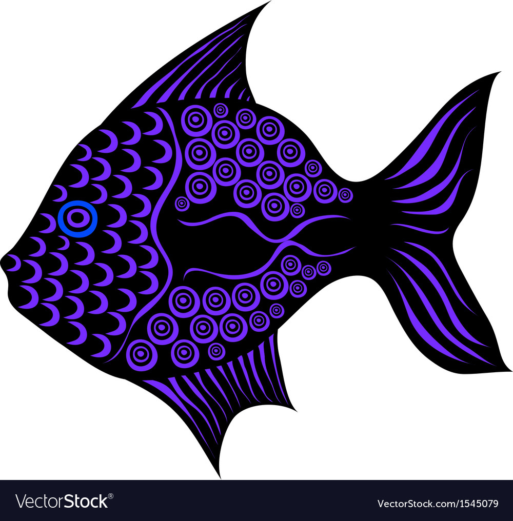 Contrast stylized fish vector | Price: 1 Credit (USD $1)