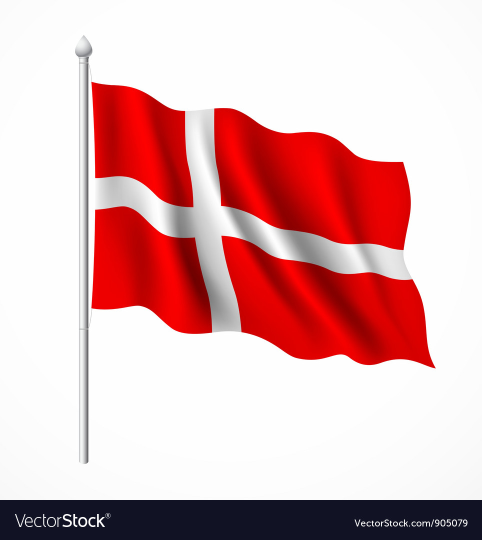 Denmark flag vector | Price: 3 Credit (USD $3)