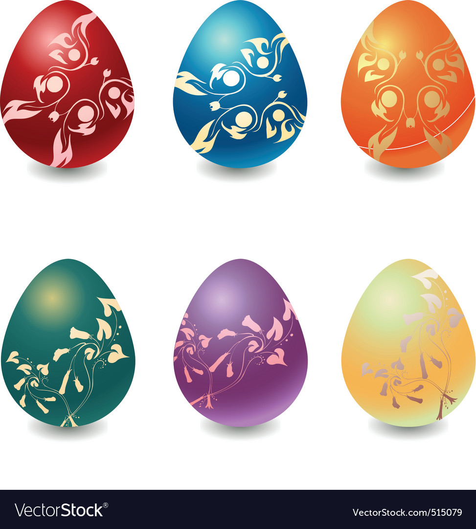 Easter eggs vector | Price: 1 Credit (USD $1)