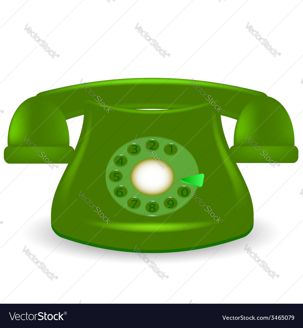 Green phone vector | Price: 1 Credit (USD $1)