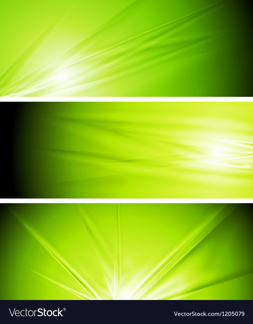 Light green summer banners vector | Price: 1 Credit (USD $1)